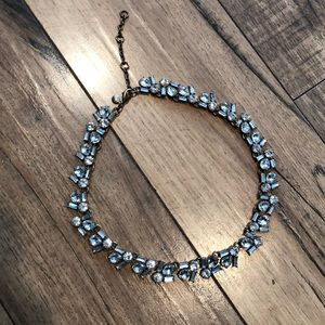J. Crew clear stone statement necklace.